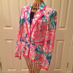 🌺 STUNNING Lilly Pulitzer bright flower blazer